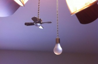 Light and Fan Shaped Pull Chains